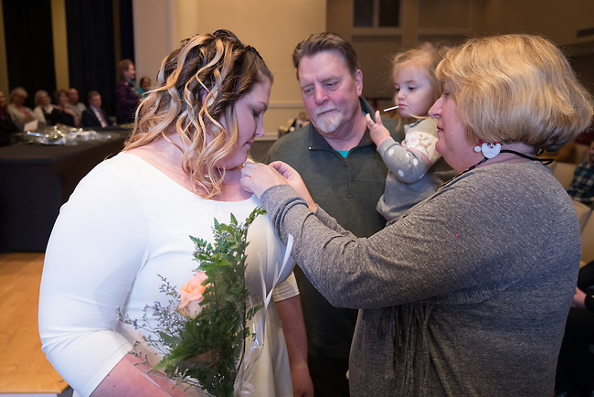 Sarah Messick Fall 2016 Midway Nursing Pinning Ceremony, Friday Dec. 16, 2016  in Midway, Ky. Photo by Mark Mahan