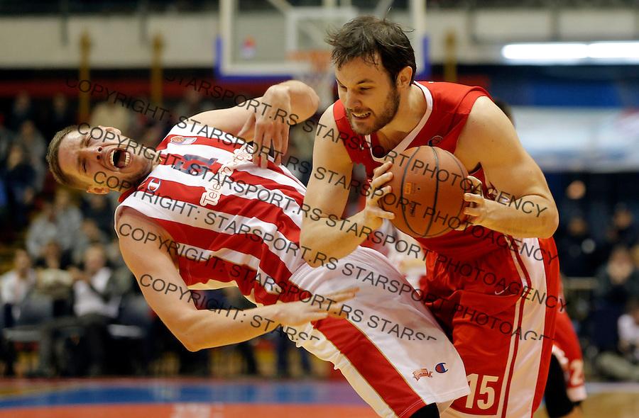 Vladimir Stimac (L) i Miro Bilan (D)  Crvena Zvezda - Cedevita kosarka ABA regionalna liga 4.1.1016. Januar 4. 2016. (credit image & photo: Pedja Milosavljevic / STARSPORT)