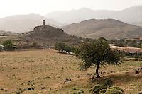 Rural landscape outside of Molivos, Lesbos Island, Greece