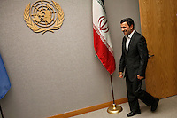 Iranian President Mahmoud Ahmadinejad arrives at the general U.N headquarters in New York, United States. 09/23/2012. Photo by Kena Betancur/VIEWpress.