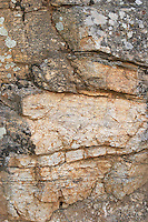 Typical rock soil. Gneiss. Caramany, Ariege, Roussillon, France
