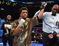 "BROOKLYN - JANUARY 26: Gary Antuanne Russell following his victory over Roberto Almazan during their welterweight fight on the ""FOX PBC Fight Night: Thurman vs. Lopez"" at Barclays Arena on January 26, 2019, in Brooklyn, New York. (Photo by Frank Micelotta/Fox Sports/PictureGroup)"