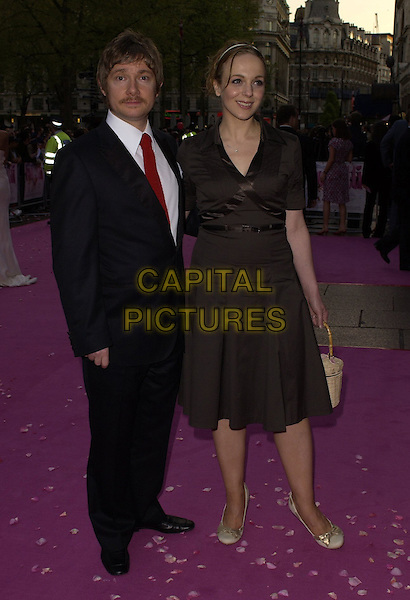 "MARTIN FREEMAN & GUEST.""Confetti"" world premiere at Vue West End, London, UK..May 3rd, 2006.Ref: CAN.full length brown black suit dress.www.capitalpictures.com.sales@capitalpictures.com.©Capital Pictures"