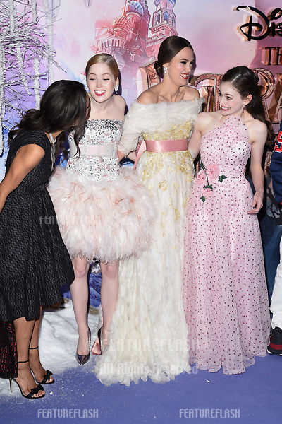 "LONDON, UK. November 01, 2018: Misty Copeland, Ellie Bamber, Keira Knightley & Mackenzie Foy at the premiere of ""The Nutcracker and the Four Realms"" at the Vue Westfield, London.<br /> Picture: Steve Vas/Featureflash"