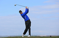 Max Drayton during Round Two of the West of England Championship 2016, at Royal North Devon Golf Club, Westward Ho!, Devon  23/04/2016. Picture: Golffile | David Lloyd<br /> <br /> All photos usage must carry mandatory copyright credit (&copy; Golffile | David Lloyd)