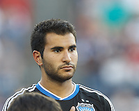 San Jose Earthquakes defender Steven Beitashour (33). In a Major League Soccer (MLS) match, the New England Revolution (white) defeated San Jose Earthquakes (black), 2-0, at Gillette Stadium on July 6, 2013.