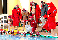 STANFORD, CA - November 26, 2010: Men's  water polo game, Stanford against UC-Irvine (MPSF Tournament). Stanford won 8-7.