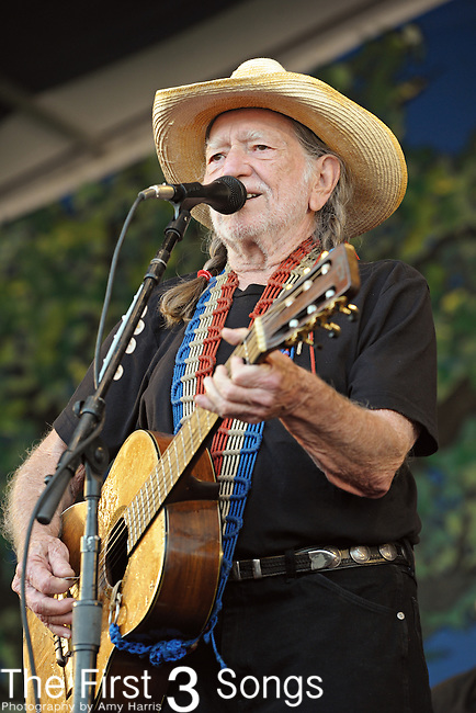 Willie Nelson performs during the New Orleans Jazz & Heritage Festival in New Orleans, LA on May 6, 2011.