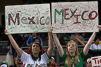 16 March 2009: Two fans cheer for Team Mexico during the 2009 World Baseball Classic Pool 1 game 3 at Petco Park in San Diego, California, USA. Cuba wins 7-4 over Mexico.