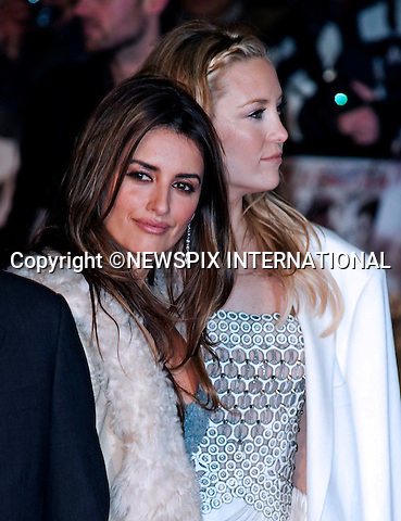 "Penelope Cruz and Kate Hudson.World Premiere of NINE.Attended by the all star cast including Daniel Day-Lewis, Penelope Cruz, Dame Judi Dench, Kate Hudson and Nicole Kidman_Odeon Leicester Square_London, 03/12/2009..Mandatory Photo Credit: ©Dias/Newspix International..**ALL FEES PAYABLE TO: ""NEWSPIX INTERNATIONAL""**..PHOTO CREDIT MANDATORY!!: NEWSPIX INTERNATIONAL(Failure to credit will incur a surcharge of 100% of reproduction fees)..IMMEDIATE CONFIRMATION OF USAGE REQUIRED:.Newspix International, 31 Chinnery Hill, Bishop's Stortford, ENGLAND CM23 3PS.Tel:+441279 324672  ; Fax: +441279656877.Mobile:  0777568 1153.e-mail: info@newspixinternational.co.uk"