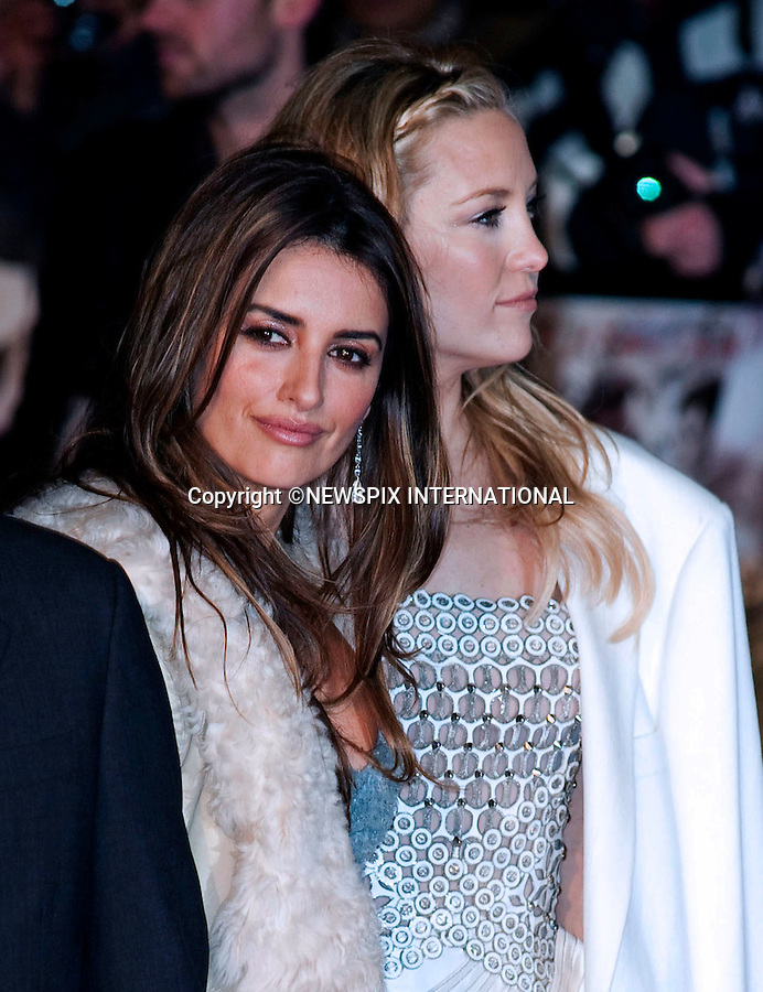 """Penelope Cruz and Kate Hudson.World Premiere of NINE.Attended by the all star cast including Daniel Day-Lewis, Penelope Cruz, Dame Judi Dench, Kate Hudson and Nicole Kidman_Odeon Leicester Square_London, 03/12/2009..Mandatory Photo Credit: ©Dias/Newspix International..**ALL FEES PAYABLE TO: """"NEWSPIX INTERNATIONAL""""**..PHOTO CREDIT MANDATORY!!: NEWSPIX INTERNATIONAL(Failure to credit will incur a surcharge of 100% of reproduction fees)..IMMEDIATE CONFIRMATION OF USAGE REQUIRED:.Newspix International, 31 Chinnery Hill, Bishop's Stortford, ENGLAND CM23 3PS.Tel:+441279 324672  ; Fax: +441279656877.Mobile:  0777568 1153.e-mail: info@newspixinternational.co.uk"""