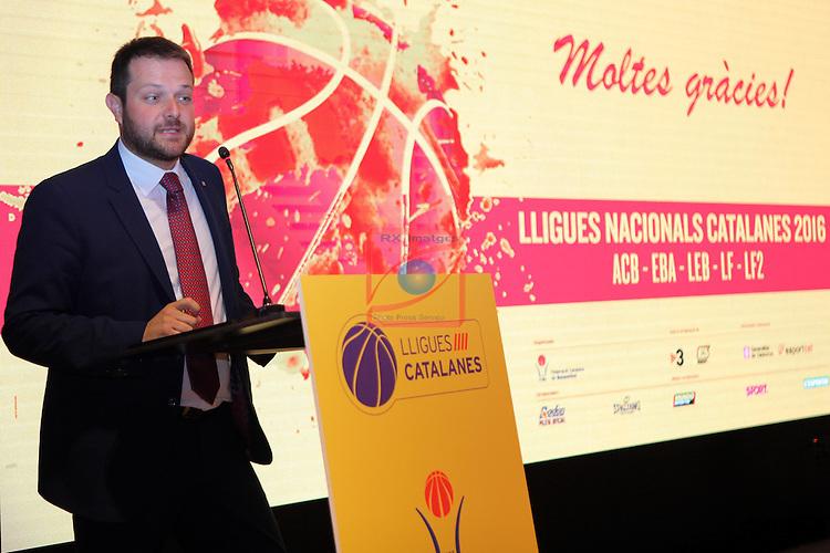 Presentacio Lligues Nacionals Catalanes 2016.<br /> Gerard Figueras.