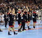 10.01.2019, Mercedes Benz Arena, Berlin, GER, Handball WM 2019, Deutschland vs. Korea, im Bild <br /> Deutsche Spieler, Paul Drux (GER #95), Patrick Wiencek (GER #7), Silvio Heinevetter (GER #12), Finn Lemke (GER #6)<br />      <br /> Foto © nordphoto / Engler