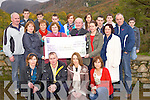 Tadhg Kelleher, Aware, pictured as he received a cheque for €5,277.00 from the family and friends of the late Mags O'Connor, Beaufort,  after their climb of Carrauntuohill on July 16th, in aid of the charity...NO FEE...PR SHOT