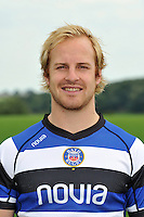 Nick Abendanon poses for a portrait at the squad photocall. Bath Rugby Media Day on August 27, 2013 at Farleigh House in Bath, England. Photo by: Patrick Khachfe/Onside Images