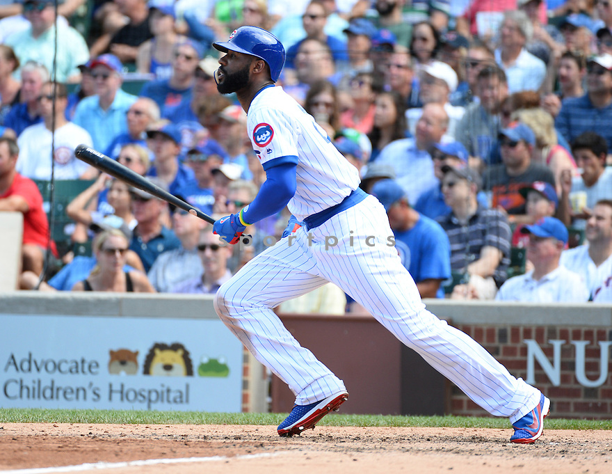 Chicago Cubs Jason Heyward (22) during a game against the New York Mets on July 20, 2016 at Wrigley Field in Chicago, IL. The Cubs beat the Mets 6-2.