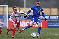 Jordan Bowery of Crewe Alexandra and Dean Bowditch of Stevenage during Stevenage vs Crewe Alexandra, Sky Bet EFL League 2 Football at the Lamex Stadium on 10th March 2018
