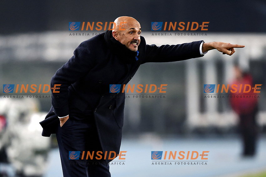 Luciano Spalletti of Internazionale reacts during the Serie A 2018/2019 football match between Chievo Verona and Inter at stadio Bentegodi, Verona, December 22, 2018 <br />  Foto Daniele Buffa / Image Sport / Insidefoto