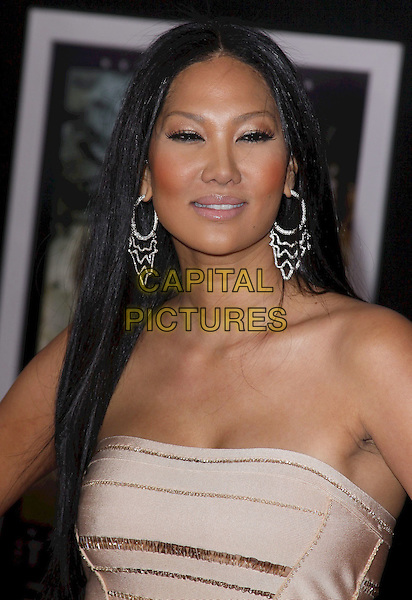 "KIMORA LEE .""The Tempest"" Los Angeles Premiere held at the El Capitan Theatre, Hollywood, California, USA..December 6th, 2010.headshot portrait make-up blush blusher cheeks pink strapless earrings silver hoop dangling.CAP/ADM/CH.©Charles Harris/AdMedia/Capital Pictures"