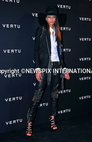 "CHANEL IMAN.attends the launch of Vertu's first touchscreen handset, Constellation at Palazzo Serbelloni, Milan, Italy_18/10/2011.Vertu is the market leader in luxury mobile phones..Mandatory Credit Photo: ©Sestini/NEWSPIX INTERNATIONAL..**ALL FEES PAYABLE TO: ""NEWSPIX INTERNATIONAL""**..IMMEDIATE CONFIRMATION OF USAGE REQUIRED:.Newspix International, 31 Chinnery Hill, Bishop's Stortford, ENGLAND CM23 3PS.Tel:+441279 324672  ; Fax: +441279656877.Mobile:  07775681153.e-mail: info@newspixinternational.co.uk"
