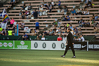 Seattle, Washington - Saturday, July 2nd, 2016: Seattle Reign FC head coach Laura Harvey during a regular season National Women's Soccer League (NWSL) match between the Seattle Reign FC and the Boston Breakers at Memorial Stadium. Seattle won 2-0.