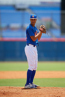GCL Mets relief pitcher Cesar Loaiza (89) gets ready to deliver a pitch during a game against the GCL Marlins on August 3, 2018 at St. Lucie Sports Complex in Port St. Lucie, Florida.  GCL Mets defeated GCL Marlins 3-2.  (Mike Janes/Four Seam Images)