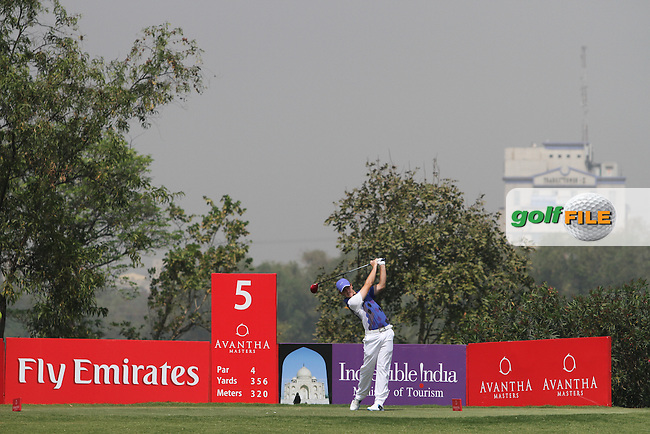 Tommy Fleetwood (ENG) on the 5th tee during Round 4 of the 2013 Avantha Masters, Jaypee Greens Golf Club, Greater Noida, Delhi, 17/3/13..(Photo Jenny Matthews/www.golffile.ie)