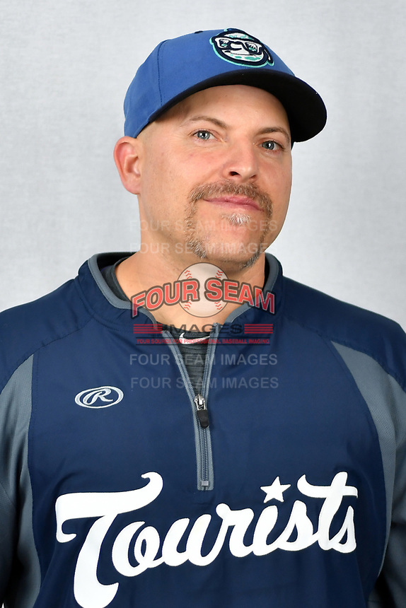 Asheville Tourists clubhouse manager Pete Stasio during media day at McCormick Field on April 2, 2019 in Asheville, North Carolina. (Tony Farlow/Four Seam Images)