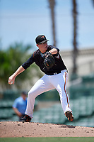 GCL Orioles pitcher Jensen Elliott (55) during a Gulf Coast League game against the GCL Red Sox on July 29, 2019 at Ed Smith Stadium in Sarasota, Florida.  GCL Red Sox defeated the GCL Pirates 9-1.  (Mike Janes/Four Seam Images)