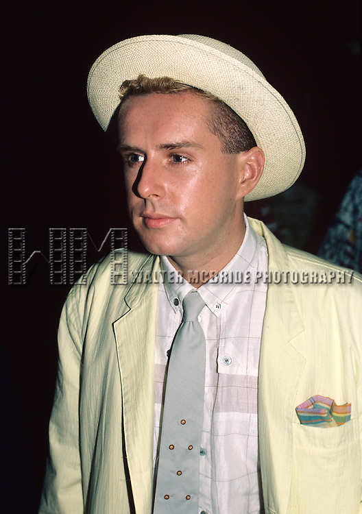 Holly Johnson of Frankie Goes to Hollywood pictured in New York City in May1985.
