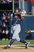 Kurt Suzuki of the Cal State Fullerton Titans bats during a 2004 season game at Goodwin Field in Fullerton, California. (Larry Goren/Four Seam Images)