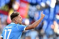Ciro Immobile of SS Lazio celebrates after scoring the goal of 4-0 for his side <br /> Roma 29-9-2019 Stadio Olimpico <br /> Football Serie A 2019/2020 <br /> SS Lazio - Genoa CFC <br /> Foto Andrea Staccioli / Insidefoto