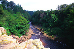 River Tees in its gorge east of High Force waterfall, Forest in Teesdale, County Durham, England