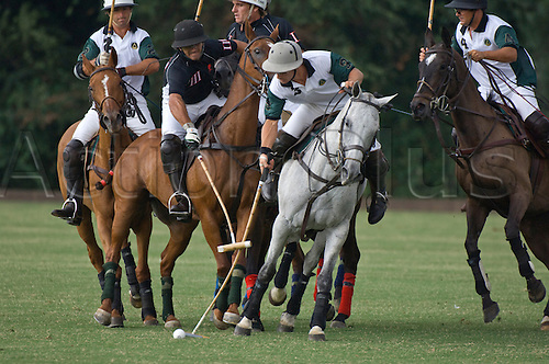 2nd-12th July 2009, players of la campana  and la locura teams during st tropez international polo cup,  (Photo: Frederic Cholin/ActionPlus)