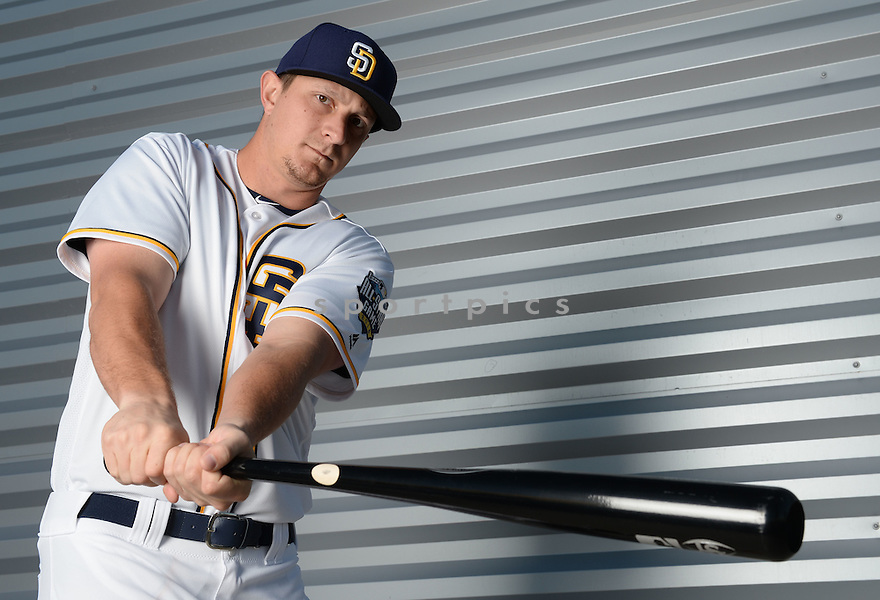 San Diego Padres Alex Dickerson (1) during photo day on February 26, 2016 in Peoria, AZ.