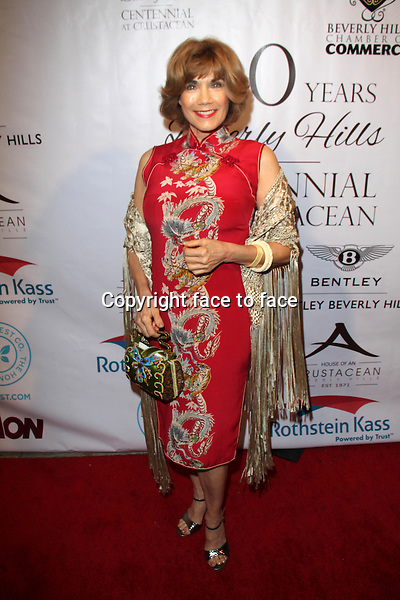 BEVERLY HILLS, CA - February 05: Barbi Benton at Experience East Meets West honoring Beverly Hills' momentous centennial year, Crustacean, Beverly Hills, February 05, 2014.<br />