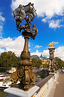 Paris - France - Pont Alexadre 111 - Lamps