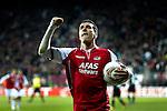 Nederland, Alkmaar, 29 maart 2012.Europa League.Seizoen 2011-2012.AZ-Valencia .Maarten Martens van AZ juicht na het scoren van de 2-1