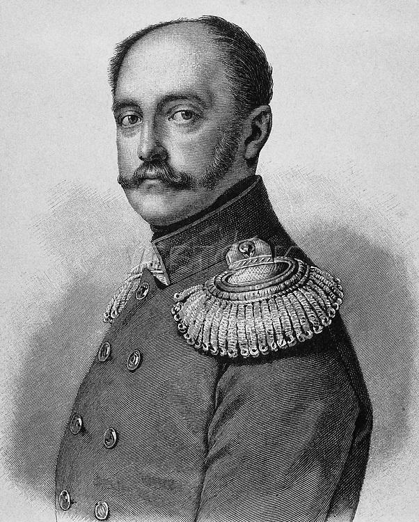 Nicholas I (1796-1855). Emperor of Russia (1825-1855). Portrait. Engraving.