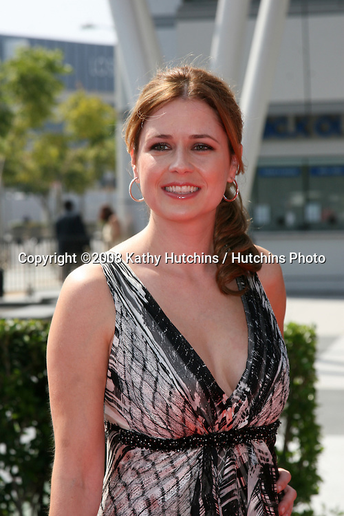 Jenna Fischer   arriving at the Creative Primetime Emmy Awards at the Nokia Theater, in Los Angeles,  CA on.September 13, 2008.©2008 Kathy Hutchins / Hutchins Photo....