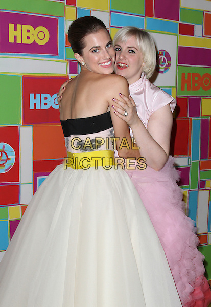 West Hollywood, CA - August 25: Allison Williams, Lena Dunham Attending HBO's Official 2014 Emmy After Party At The Plaza at the Pacific Design Center  California on August 25, 2014.  <br /> CAP/MPI/RTNUPA<br /> &copy;RTNUPA/MediaPunch/Capital Pictures