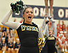 Maddie Formato and the Ward Melville varsity cheerleaders perform during an invitational competition held at Smithtown High School West on Saturday, Dec. 17, 2016.