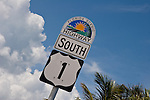 US Hwy 1 sign near the Seven Mile Bridge.