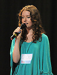 Amy Stanley Dunshaughlin performing in the School Stars auditions in the TLT Drogheda. Photo: Colin Bell/pressphotos.ie