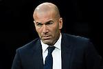 Real Madrid's coach Zinedine Zidane during the match of La Liga between Real Madrid  and Villarreal Club de Futbol at Santiago Bernabeu Estadium in Madrid. September 21, 2016. (ALTERPHOTOS/Rodrigo Jimenez)