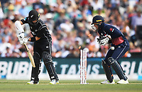Mark Chapman is bowled by Moeen Ali.<br /> New Zealand Blackcaps v England. 5th ODI International one day cricket, Hagley Oval, Christchurch. New Zealand. Saturday 10 March 2018. &copy; Copyright Photo: Andrew Cornaga / www.Photosport.nz