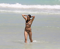 APRIL 26 2013.Michelle Rodriguez enjoy Miami beaches.Non Exclusive.Mandatory Credit: KDNPIX.COM..Ref: kdn_XIM ++<br />