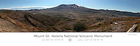 Mt. St. Helens National Volcanic Monument with Latitude and Longitude