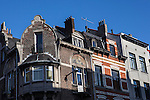 Art Nouveau decoration on houses in Ixelles, Brussels, Belgium.