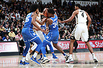 WINSTON-SALEM, NC - JANUARY 23: Duke's Wendall Carter, Jr. (34) grabs the ball. The Wake Forest University Demon Deacons hosted the Duke University Blue Devils on January 23, 2018 at Lawrence Joel Veterans Memorial Coliseum in Winston-Salem, NC in a Division I men's college basketball game. Duke won the game 84-70.